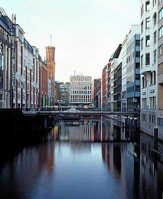 Photograph - Street Scene In Downtown Hamburg by Murat Taner