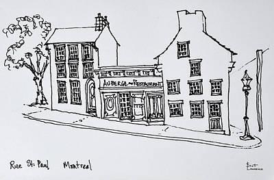 Street Scene Of Rue St Art Print
