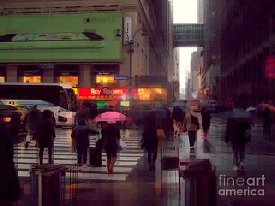 Photograph - Street Scene - Seventh Avenue - New York by Miriam Danar