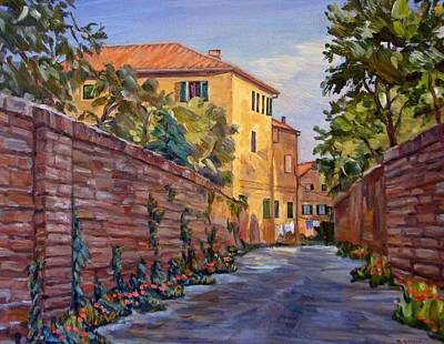 Street Scene Sienna Tuscany Art Print by Robert Gerdes