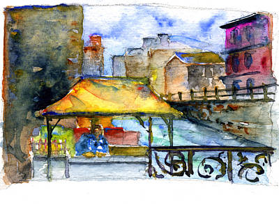 John Benson Painting - Street Scene St. Petersburg by John D Benson