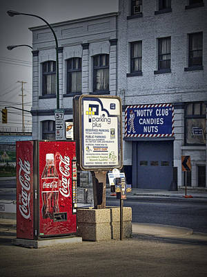 Photograph - Street Scene With Coke Machine No. 2110 by Randall Nyhof