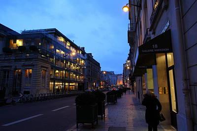 Night Photograph - Street Scenes - Paris France - 011333 by DC Photographer