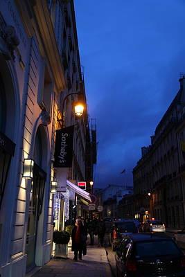Night Photograph - Street Scenes - Paris France - 011339 by DC Photographer