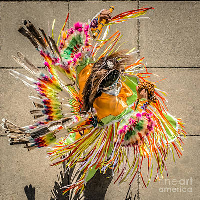 Street Shadow Dancer 1 - Square Crop Art Print by Ian Monk