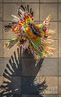 Multi Colored Photograph - Street Shadow Dancer by Ian Monk