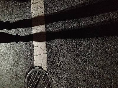Crosswalks Photograph - Street Shadow by H James Hoff