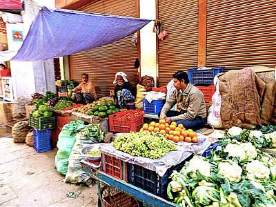 Scenic Photograph - Street Shops  by Girish J