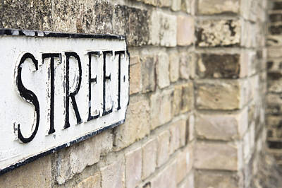 Black Commerce Photograph - Street Sign by Tom Gowanlock