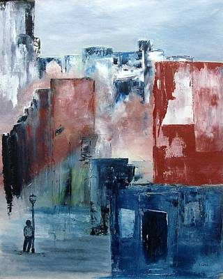 Wall Art - Painting - Street Stories by Linda Wimberly