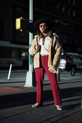 Photograph - Street Style - New York City - February by Matthew Sperzel