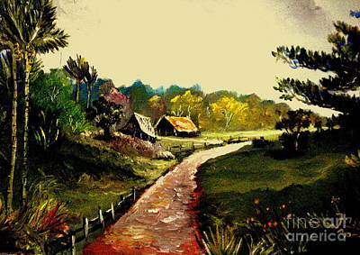 Painting - Street  To Countryside by Jason Sentuf