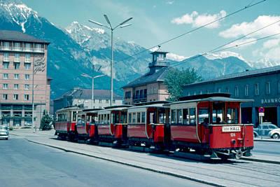 Street Train Innsbruck 1962 Art Print by Cumberland Warden