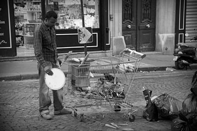 Poor People Photograph - Street Vendor by Chevy Fleet