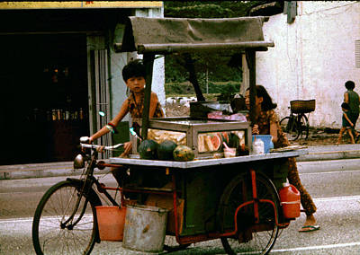 Photograph - Street Vendor by John Warren