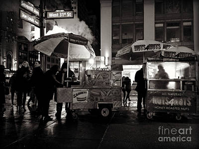 Photograph - Street Vendor Row by Miriam Danar
