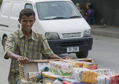 Photograph - Street Vendor With Pushcart In Timor-leste by Dan Suzio