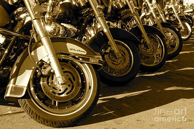 Street Vibrations Sepia Art Print by Vinnie Oakes