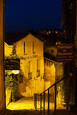 Aquitaine Photograph - Street View At Dawn, Saint-emilion by Panoramic Images