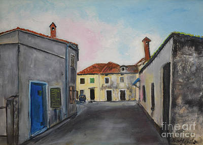 Painting - Street View From Kavran by Raija Merila