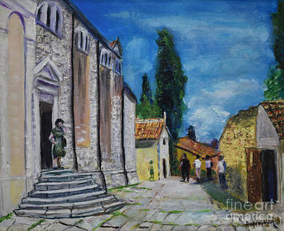 Painting - Street View In Rovinj by Raija Merila