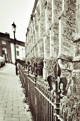 Old Fence Posts Photograph - Street View by Tom Gowanlock