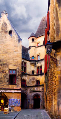 Street With A Tunnel In Sarlat - Painting Art Print