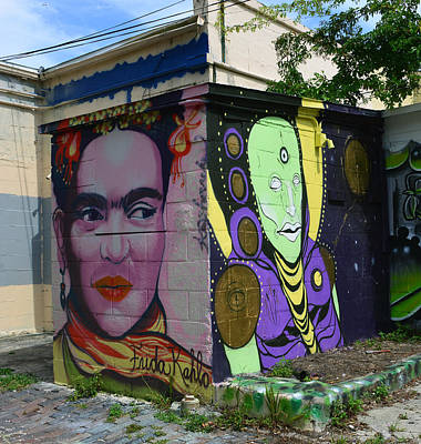 Artistic Portraiture Photograph - Frida Kahlo And Man Street Art by David Lee Thompson