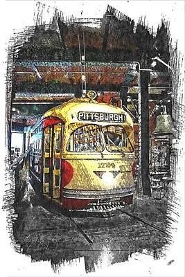 Pittsburgh Streetcar 1724 Art Print