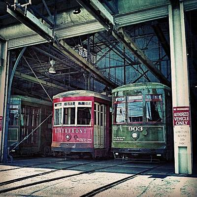 New Orleans Photograph - Streetcar Barn New Orleans by Glen Abbott