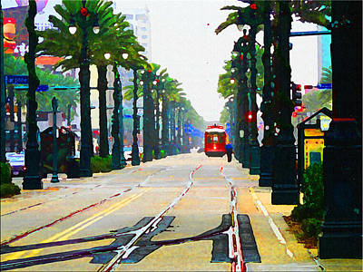Streetcars Digital Art - Streetcar In New Orleans by Artistic Photos