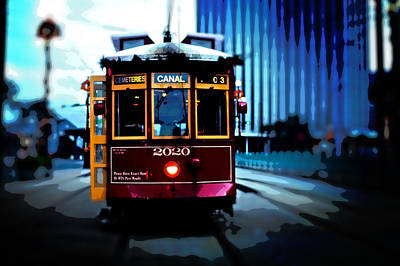 Hemingway Photograph - Streetcar In New Orleans by Richard Hemingway