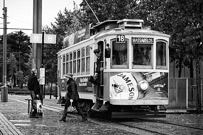 Photograph - Streetcar In Oporto by Pablo Lopez