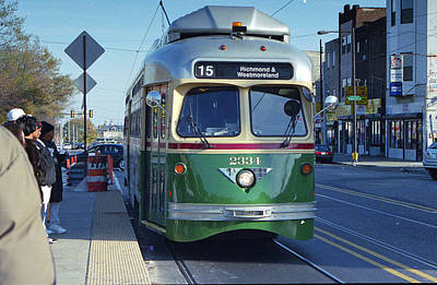 Streetcar In Philadelphia Art Print by Eric Miller