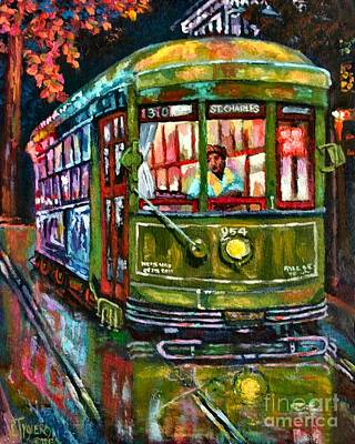 Streetcar Night Art Print
