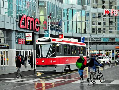 Painting - Streetcar On Dundas by Kenneth M  Kirsch