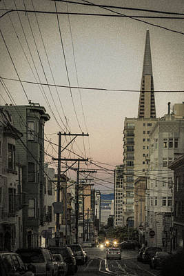 Telephone Poles Photograph - Streetcar Tunnel Vision by Scott Campbell