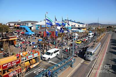 Sight Seeing San Francisco Photograph - Streetcars At Pier 39 San Francisco California 5d26050 by Wingsdomain Art and Photography