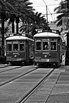 Streetcars New Orleans Art Print by Christine Till