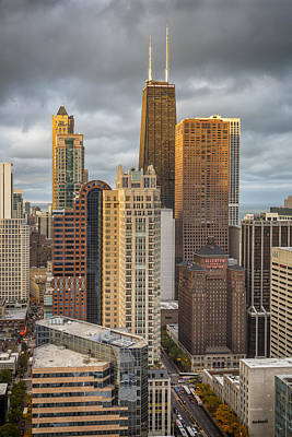 Contemporary Photograph - Streeterville From Above by Adam Romanowicz