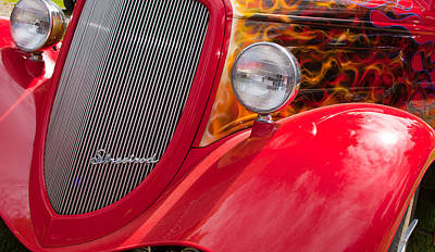 Art Print featuring the photograph Streetrod Red by Mick Flynn