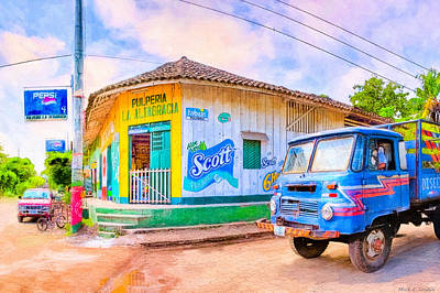 Photograph - Streets Of A Tropical Village - Timeless Nicaragua by Mark E Tisdale