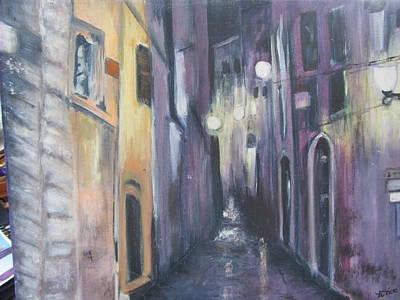 Streets Of Alatri Italy Art Print