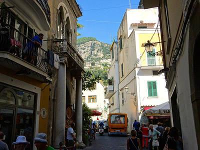 Photograph - Streets Of Amalfi by Alan Lakin