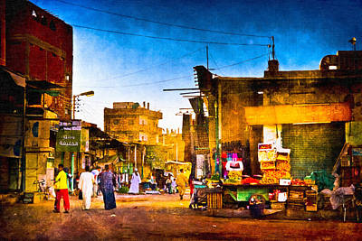 Photograph - Streets Of An Egyptian Village by Mark E Tisdale
