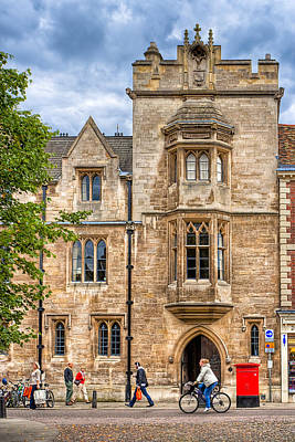 Photograph - Streets Of Cambridge - Whewell's Court by Mark E Tisdale