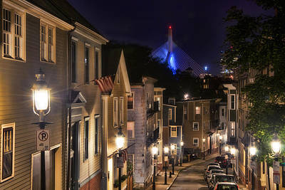 Gas Lamp Photograph - Streets Of Charlestown 2 by Joann Vitali