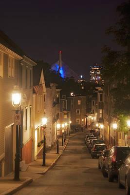 Gas Lamp Photograph - Streets Of Charlestown by Joann Vitali
