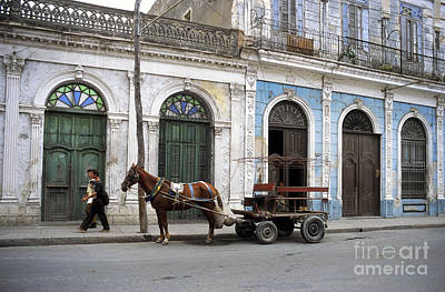 Horse And Cart Photograph - Streets Of Cienfuegos by James Brunker