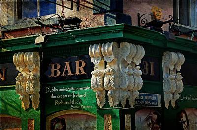 Photograph - Streets Of Dublin. Bachelor Inn by Jenny Rainbow
